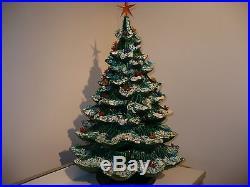 Vintage 22 1970 S Ceramic Christmas Tree Flocked 4 Piece 3 Tier