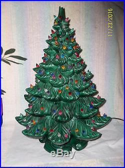 Vintage 22 Atlantic Mold Ceramic Christmas Tree 100+ Lights