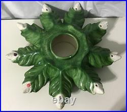 Vintage 3 Piece Ceramic ATLANTIC MOLD 1974 Lighted Christmas Tree Handmade 20