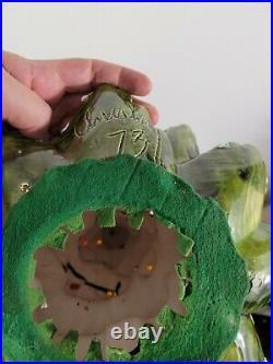 Vintage 3 Piece Ceramic ATLANTIC MOLD Lighted Christmas Tree Handmade 24+ 1973