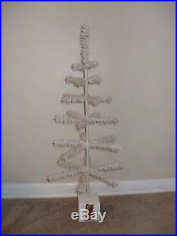 Vintage 36 Real Goose Feather White Christmas Feather Tree! Made In Usa! Last One