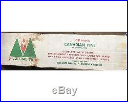 Vintage 38 Astralite Vinyl Aluminum Blue Green Christmas Tree