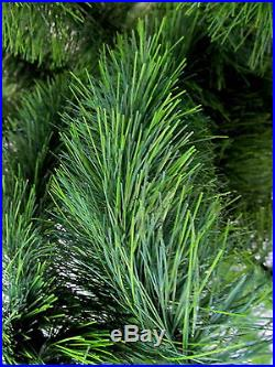 Vintage 4 foot Artificial Green Bottle Brush Christmas Tree fat branches