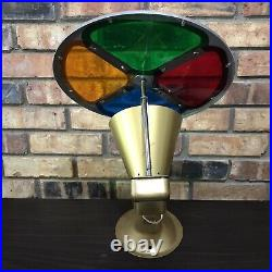Vintage 40s 50s Spartus Aluminum Rotating Color Wheel 880 Christmas Tree VIDEO