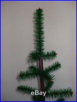 Vintage 48 Real Goose Feather Christmas Feather Tree! Made In Usa! Antique Base