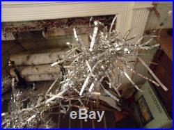 Vintage 4ft Sparkler Pom Pom Aluminum Christmas Tree w Box