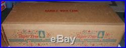 Vintage 6 1/2 Foot Aluminum Taper Chritmas Tree In Original Box