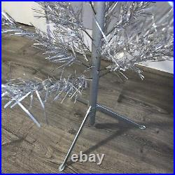 Vintage 6.5 Aluminum Christmas Tree United States Silver Tree Co. WithBox MCM