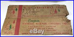Vintage 6.5' Silver Aluminum Evergleam CHRISTMAS TREE 100 Branches + 23 Extras