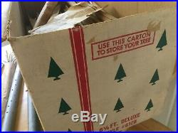 Vintage 6.5 ft Silver Aluminum 98 Branch Christmas Tree W Box & Stand US Silver