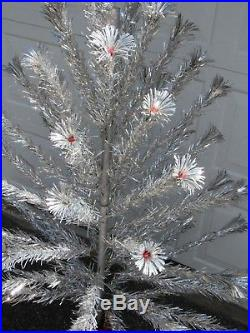 Vintage 6 Foot Aluminum Sparkler Christmas Tree with Original Box