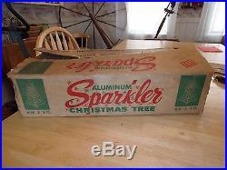 Vintage 6 Foot Sparkler Aluminum Christmas Tree