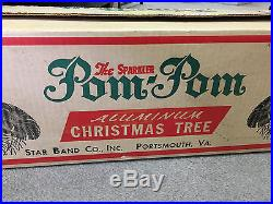 Vintage 6 Foot The Sparkler Pom-Pom Aluminum Christmas Tree Branches & Stand