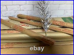 Vintage 6 Ft Star 49 Branch Sparkler Aluminum Christmas Tree with Color Wheele