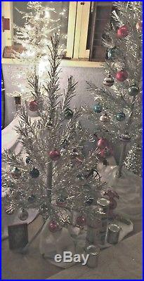 Vintage 6 ft. ALUMINUM Christmas Tree 60 Branches New Stand