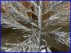 Vintage 6ft Aluminum Christmas Tree 1959 Orig. Box Instructions Modern Coatings