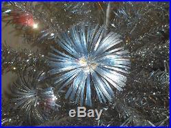 Vintage 7 Ft Tall Aluminum Sparkler Pom Pom Christmas Tree 100 Branches Orig Box