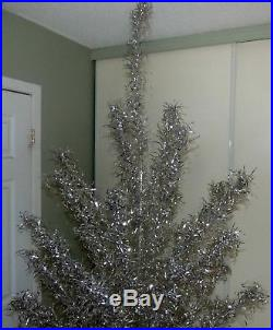 Vintage 7½ feet 70 branches 1960's aluminum Christmas tree FREE SHIPPING