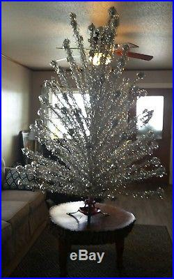 Vintage 7 ft Evergleam Pom Pom Aluminum Christmas Tree 102 Branch withBox 1960's