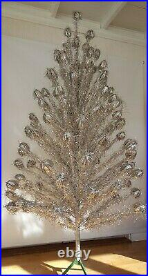 Vintage 7ft Aluminum Christmas Tree WithColor wheel 1960s Mid Century Atomic era