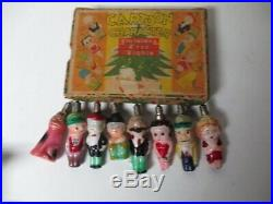 Vintage 8 Light C-6 Cartoon Character Christmas Tree Lights in Original Box