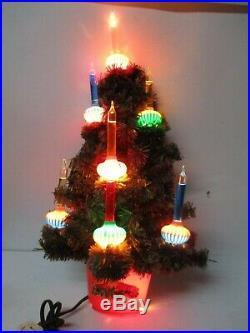 Vintage 8 Light C-6 NOMA Christmas WALL Tree w Bubble Lights
