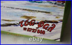 Vintage 80's Christmas 100 Big Tree Lights Diamond Reflectors Greek Greece New