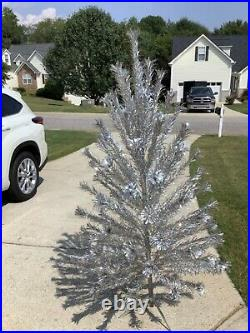 Vintage 92 BRANCH 58 ALUMINUM CHRISTMAS TREE PECO POM POM
