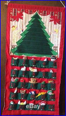 Vintage Advent Calendar Boy And Girl Christmas Tree Rare Hard To Find