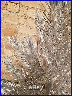 Vintage Aluminum 37 Branch 4 1/2 Foot Christmas Tree Sparkler Atomic Mcm xmas