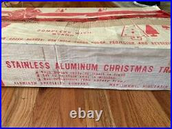 Vintage Aluminum 5.5ft Christmas Tree, 55 Branches