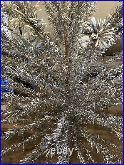 Vintage Aluminum Christmas Tree 6' with 90 Limbs