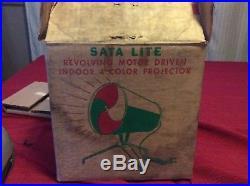 Vintage Aluminum Christmas Tree Evergleam Sata Lite Color Wheel Light Projector
