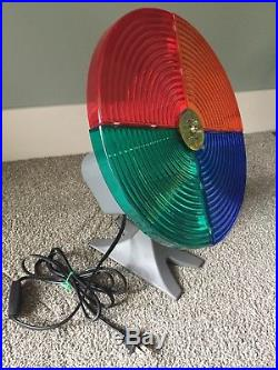 Vintage Aluminum Christmas tree withColor Wheel
