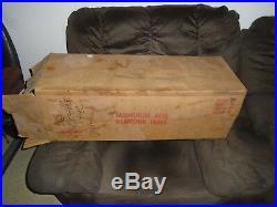 Vintage Aluminum Gold Foil Glamour Christmas Tree Original Box 31'