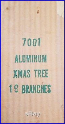 Vintage Aluminum Silver Christmas Tree Table Top 20
