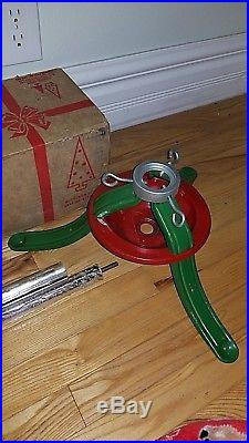 Vintage Aluminum Specialty 6 ft. Christmas Tree Stainless 46 Branch