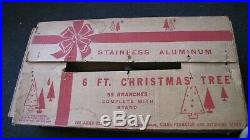 Vintage Aluminum Specialty Co Stainless Aluminum 6ft Christmas Tree #4806