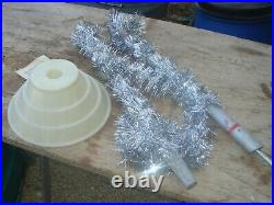 Vintage Aluminum Taper Christmas Tree by Carey McFall 4' 46 branches w Stand Box