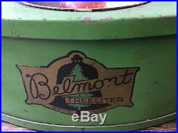 Vintage Antique Belmont Treeliter Lighted Christmas Tree Stand 1926 Electric USA