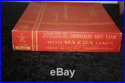 Vintage Antique Christmas Tree Topper STAR OF BETHLEHEM Noma Mazda Lamps no 127
