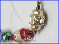 Vintage Antique Mercury Glass Christmas Feather Tree Garland Ornament Lantern
