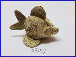 Vintage Antique Spun Cotton Fish Christmas Tree Ornament Decoration Goldfish 3