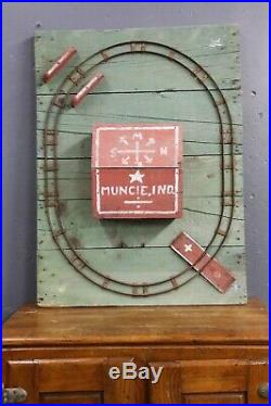 Vintage Antique Train Layout Wood building Star for Christmas Tree Lionel Etc