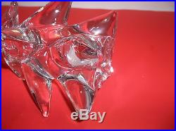 Vintage Art Glass CHRISTMAS TREE CRYSTAL CLEAR 11.5