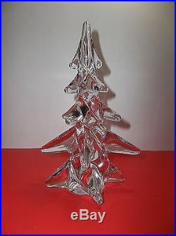 Vintage Art Glass CHRISTMAS TREE CRYSTAL CLEAR 9.5
