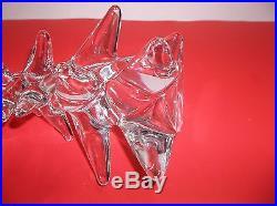 Vintage Art Glass CHRISTMAS TREE CRYSTAL CLEAR 9.5
