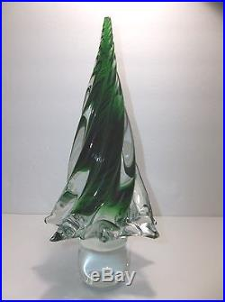 Vintage Art Glass Christmas Tree GREEN 12 Evergreen 5 Pounds SEE DESCRIPTION