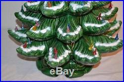 Vintage Atlantic 26 Ceramic Lighted Christmas Tree 3 Piece PLEASE READ