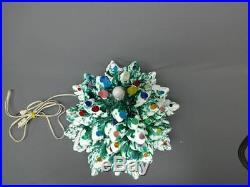 Vintage Atlantic Mold Ceramic 3-Piece 19 Multi-Color Christmas Tree With Base